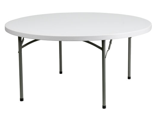 """60"""" Round Plastic Folding Tables For Sale"""
